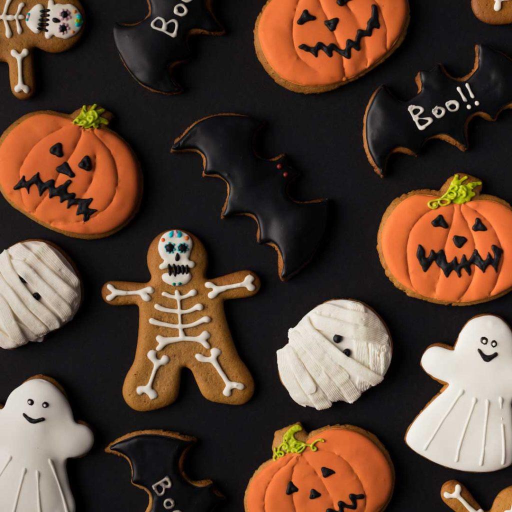 halloween themed sugar cookies